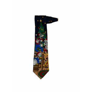 Disney Christmas Mickey Mouse Goofy Pluto Tie
